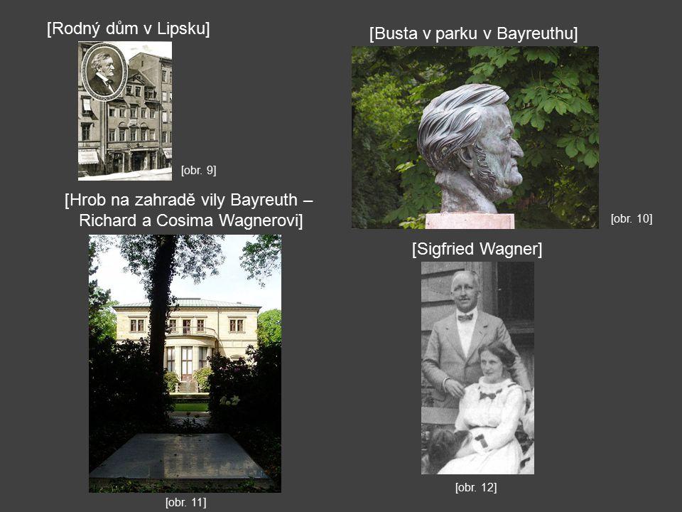 [Busta v parku v Bayreuthu]